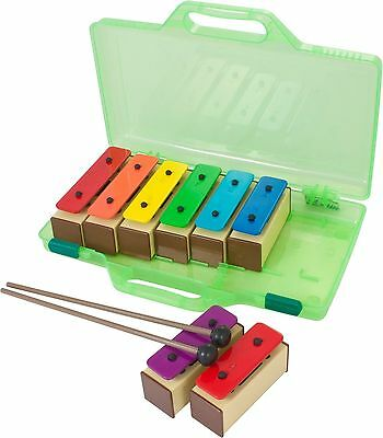 Percussion Workshop KB10 - Coloured Chime Bars Set with 2 Beaters and Case (S...