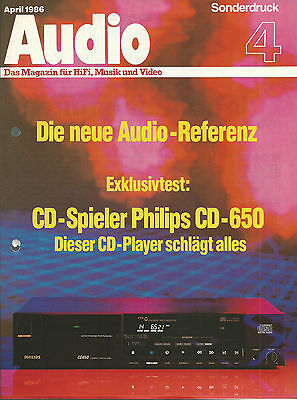 Philips CD-650 Sonderdruck / Hi-Fi Stereo Prospekt Katalog Brochure Catalogue