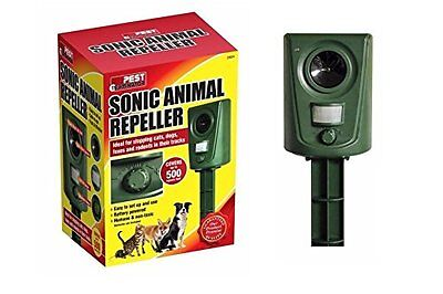 Sonic Animal Repeller Cat Fox Dog Rodent Motion Sensor Garden Animal Scarer New