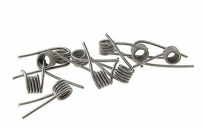 316 Stainless Steel Clapton Coils - 10 Pack - Boxed