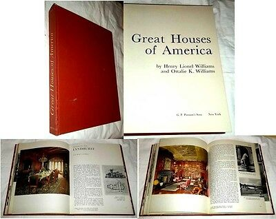 GREAT HOUSES of AMERICA by WILLIAMS ~ HOMES, ARCHITECTURE & ANTIQUE FURNITURE