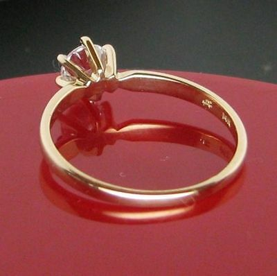 0.50 cts Round Brilliant Solitaire Engagement Ring Real 14k Solid Yellow Gold