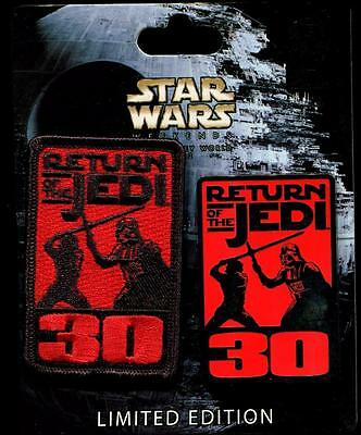 WDW Star Wars Weekend 2013 Return of the Jedi LE Disney Pin and Patch Set 96534