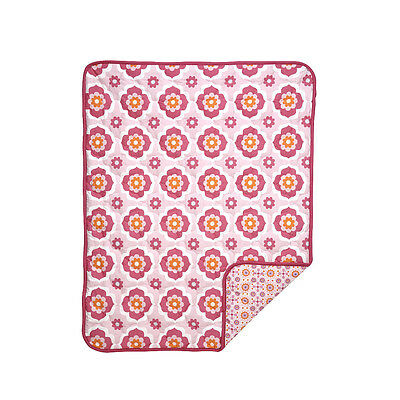 Happy Chic Baby by Jonathan Adler - Olivia Medallion Flower Quilt - Moroccan
