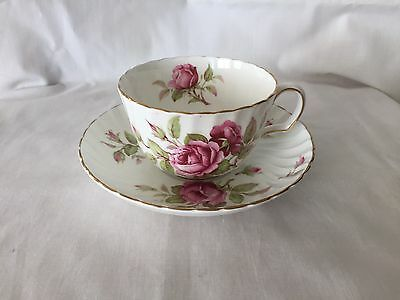 Adderley Rose Flowers Floral Tea Cup Set Bone China Made In England