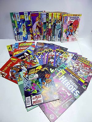 Lote 50 Comic Forum,  Gijoe,  Marvel Héroes, What If, Factor X, Capa Y Puñal