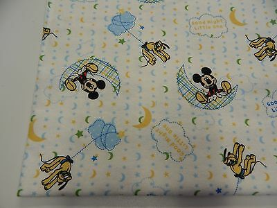 Mickey Mouse On White Flannelette Baby Wrap Swaddle Blanket - 100% Cotton