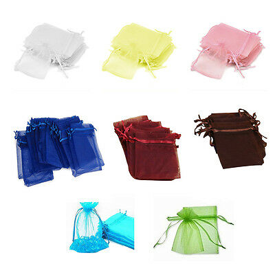 7x9cm Organza Jewelry Candy Gift Pouch Bags Wedding Xmas Favors PK