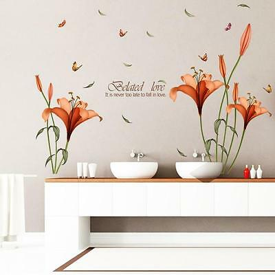 Modern Flower Wall Stickers Removable Decal Home Room Decor DIY Art Decoration