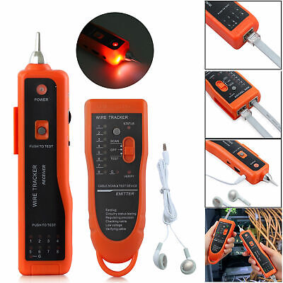 Telephone Lan Network RJ45/11 Tester Tracker Cable Wire Finder Tracer Toner Test
