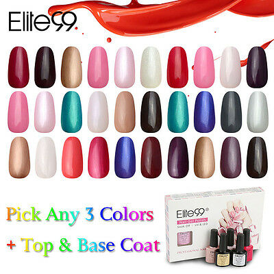 Elite99 Smalti Semipermanenti  Gel UV Unghie Arte Any3 Colori+Base&Top Coat 5pz