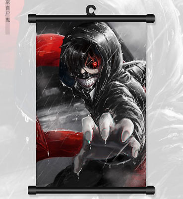 Anime Tokyo Ghoul Kaneki Ken Wall Poster Scroll Home Decor Painting Collect Gift