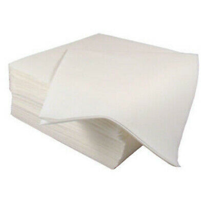 SPECIAL OFFER 50 x Premium Quality Linen Feel Airlaid White Napkins 40cm x 40cm