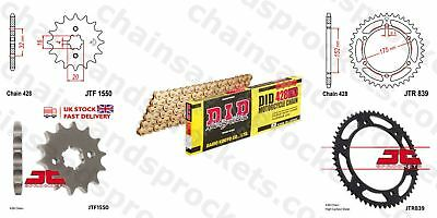 DID- All Gold Heavy Duty Chain Kit 428HDGG 134 fits Yamaha WR125 R-Y,Z,A 09-14