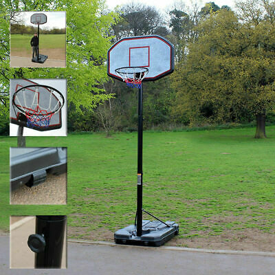 Wido PROFESSIONAL FULL SIZE PORTABLE ADJUSTABLE BASKETBALL STAND NET HOOP