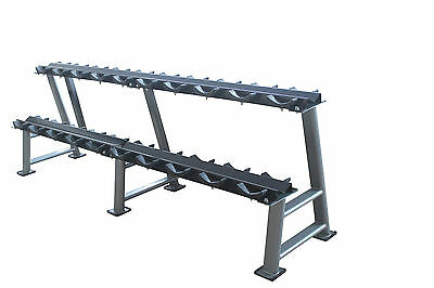 Dumbbel Rack 2 Tier Commercial Heavy Duty 10 Pairs CRD's or Rubber Hex