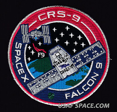 NEW CRS-9 - SPACEX ORIGINAL FALCON 9 DRAGON F-9 ISS NASA RESUPPLY Mission PATCH