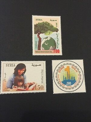 Syria 2016 Latest Mnh Stamp Mothers Day round Labour Day Highest Face Value