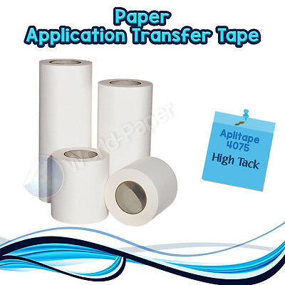 "Application Transfer Paper Tape Vinyl Sign Adhesive Made In Usa 12"" x 300Ft :)"
