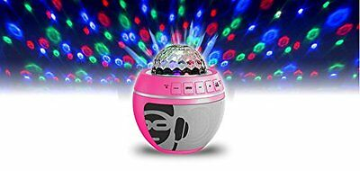 iDance Party Ball in Pink - Bluetooth Wireless Sound System With Disco Lights!