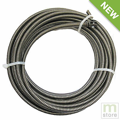 """100 Ft Drain Auger Cable Replacement 3/8"""" Music Wire Snake Clog Pipe Cleaner"""