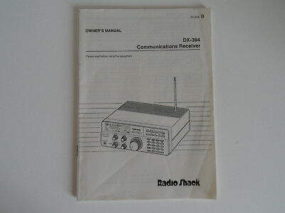 Radio Shack Dx-394 (Owners Manual Only)......radio_Trader_Ireland.