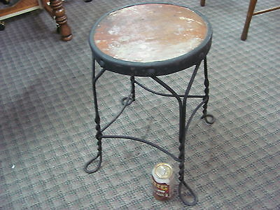 Antique Ice Cream Parlor Stool Wrought Iron Twisted Metal Legs Chair Original