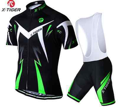 Sport Team Cycling Jersey Sets Bike Bicycle Bib Top Short Sleeve Sky Clothing