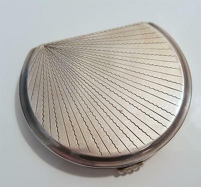 Vintage Russian make up or tobacco silver box, engaved, hallmarked