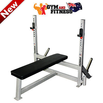 Brand New Heavy Duty Force Usa Fixed Flat Olympic Bench Press Gym Equipment
