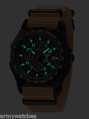 KHS Tactical Watches Sentinel AC Chronograph C1-light Nato Strap German Military