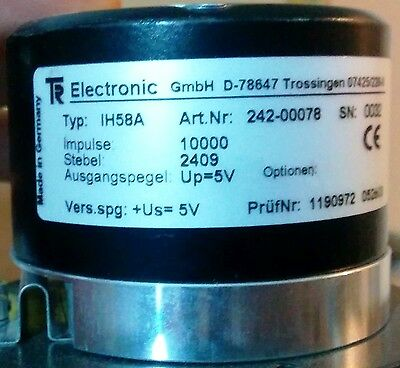 TR electronics digital incremental hollow shaft encoder IH58A 10000cpt cpr ppr