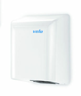 Velo Electric Hand Dryer - Bigflow White Steel Commercial Grade - 5 Yr Wty