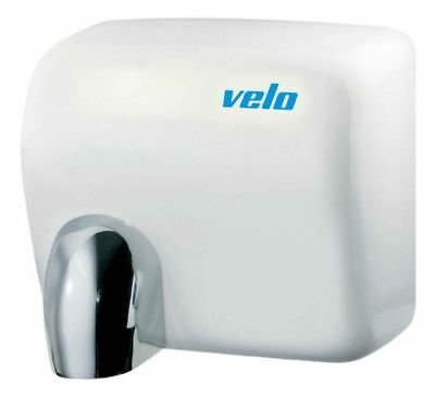 Velo Commercial Hand Dryer - Cyclon White Steel - 5 Yr Wty