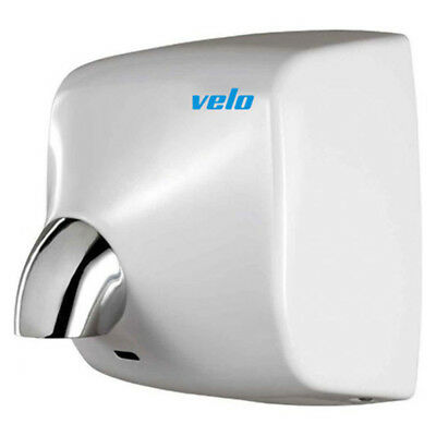 NEW Velo Commercial Hand Dryer - Windflow White Steel Vandal Proof - 5 Yr Wty