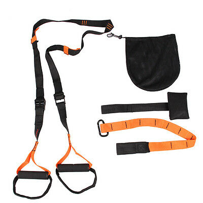 Suspension Strap Band Body Trainer Workout Resistance Exercise Gym Fitness