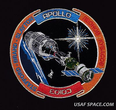 APOLLO SOYUZ 40th ANNIVERSARY- ASTP LAST RIDE -Tim Gagnon NASA SPACE PATCH -MINT