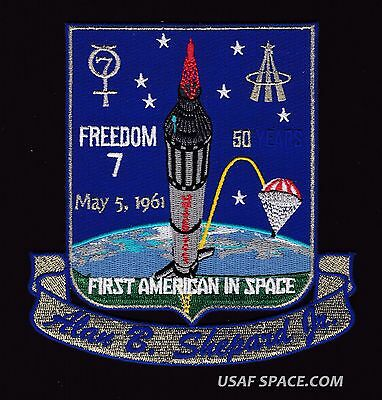 FREEDOM 7 50th  ANNIVERSARY -FIRST AMERICAN IN SPACE Tim Gagnon SPACE PATCH-MINT