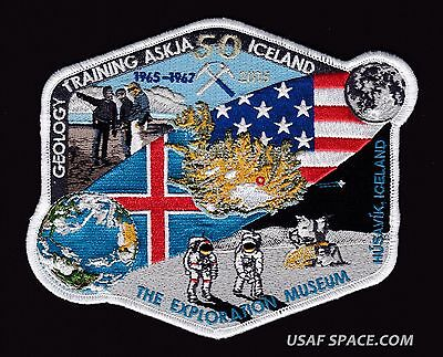 "APOLLO ICELAND GEOLOGY TRAINING 50TH ANNIVERSARY- Tim Gagnon NASA 6"" SPACE PATCH"