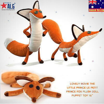 Lovely Movie The little Prince Le Petit Prince Fox Plush Doll Puppet Toy 50cm