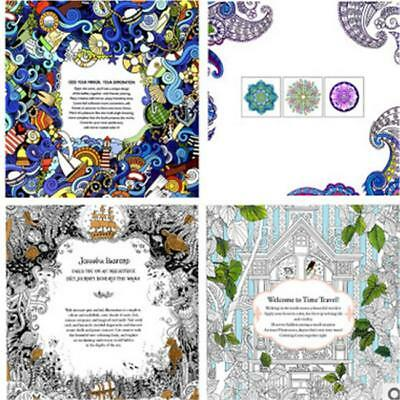 2016 New English Ver. Hand Painting Coloring Book Anti-Stress For Adults Kids FI