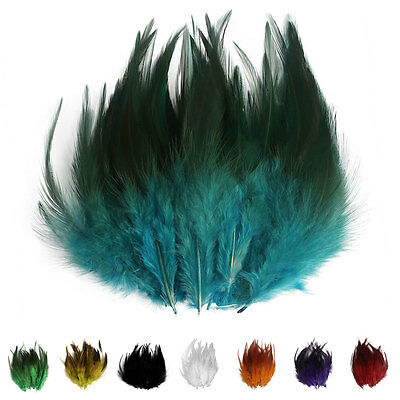 50/100PCS Beautiful Rooster Tail Feathers Bridal Wedding Crafts Millinery Cloth
