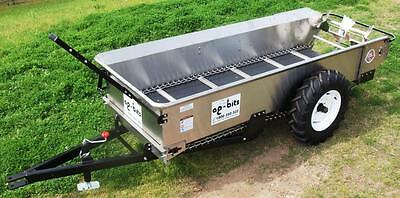 Ag-Bits, Stainless Steel, Ground Drive Manure Spreader. Made In Usa