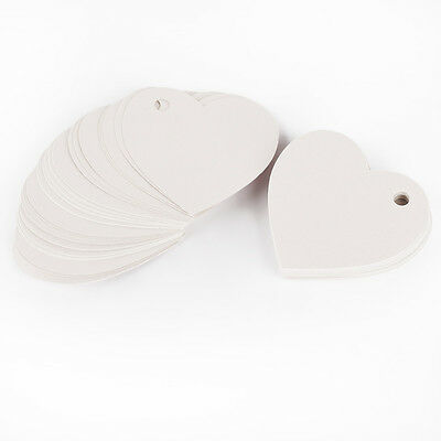 50pcs Etiquetas para regalo boda Joyería Tags Label Price Tab Gift Blanco
