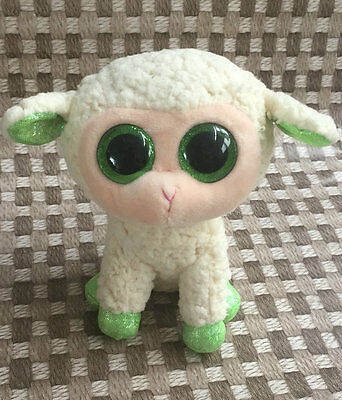 Soft Toy From TY BEANIES LALA  Green Sheep 6 inch Stuffed toy Without all tags