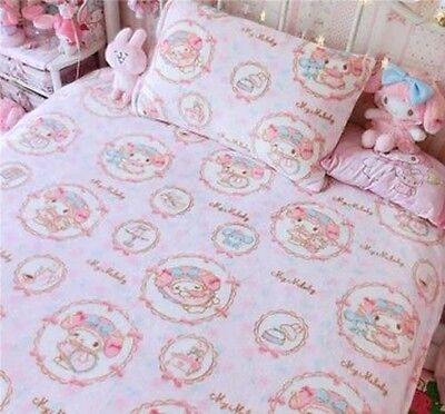 "79"" x 79"" Anime Kawaii Bowknot My Melody Kitty Blanket Bed Sheet Flannel Big"