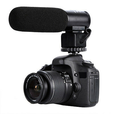 K&F Concept DSLR Camera Microphone Video Audio Shotgun Mic for Canon Nikon Gopro