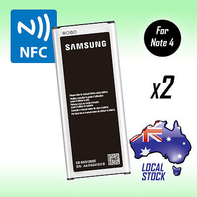 2 x New Genuine 3220 mAh Battery For Samsung Galaxy Note 4 N910G with NFC