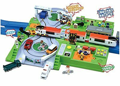 Plarail Play with Tomica Dx Railroad Crossing Station Kids Toy New /B1