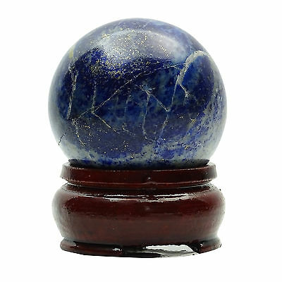 Lapis Lazuli Sphere Ball Stand Reiki Healing Balancing Gift Table Décor CD1039A